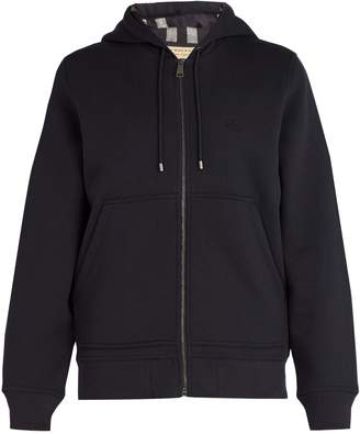 Burberry House-check lined hooded sweatshirt