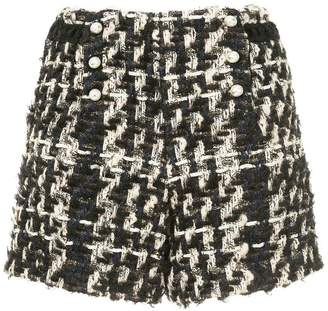 Edward Achour Paris pearl tweed shorts
