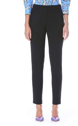 Carolina Herrera Straight-Leg Side-Zip Stretch-Wool Pants
