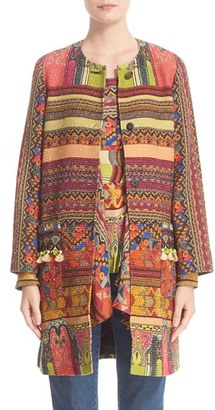 Women's Etro Ribbon Print Cotton Blend Topper $2,765 thestylecure.com