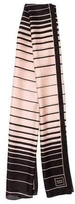 Herve Leger Silk Striped Scarf