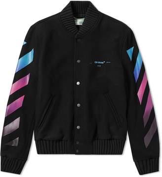 Off-White Off White Diagonal Gradient Varsity Jacket