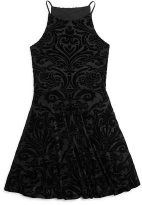AQUA Girls' Burnout Velvet Skater Dress, Sizes S-XL - 100% Exclusive $78 thestylecure.com