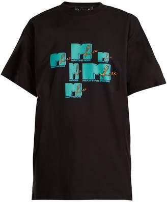 Martine Rose MTV-print cotton T-shirt