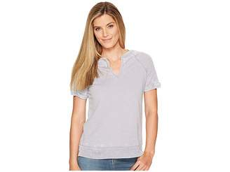 Allen Allen Split-Neck Crew Women's Clothing