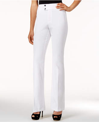 INC International Concepts Flared Curvy-Fit High-Waist Pants, Only at Macy's $69.50 thestylecure.com