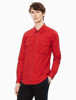 Calvin Klein twill zip front shirt jacket