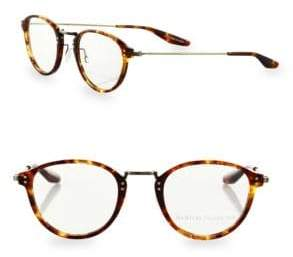 Barton Perreira Getty 46MM Round Tortoise Eyeglasses