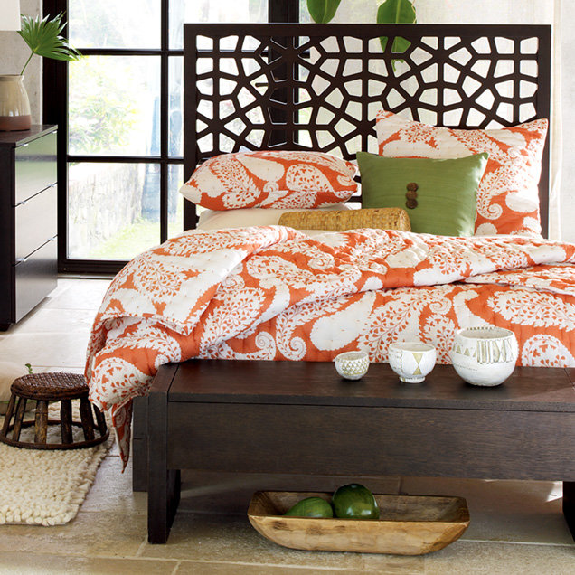 Morocco Headboard + Wood Bed Frame