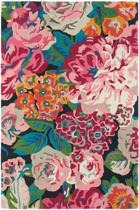 Sanderson Rose & Peony Cerise Hand-Tufted Wool Rug
