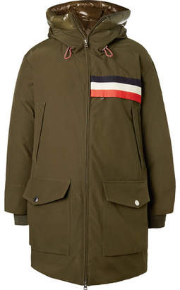 Moncler Genius 2 1952 Oversized Striped Shell-Trimmed Gabardine Hooded Parka