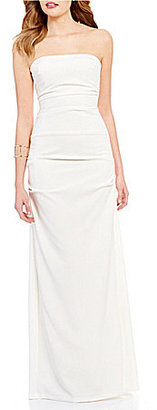 Nicole Miller Collection Felicity Strapless Solid Crepe Gown $365 thestylecure.com