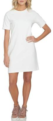 1 STATE 1.State Lace-Up Sleeve T-Shirt Dress