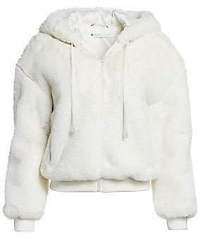 Blanc Noir Women's Aspen Faux Fur Hoodie