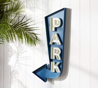Pottery Barn Park Painted Iron Wall Sign