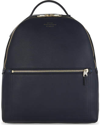 Smythson Burlington small grained leather backpack