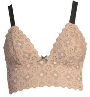 Fleur Du Mal Crochet Lace Longline Bra