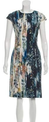 Lela Rose Knee-Length Sheath Dress Blue Knee-Length Sheath Dress