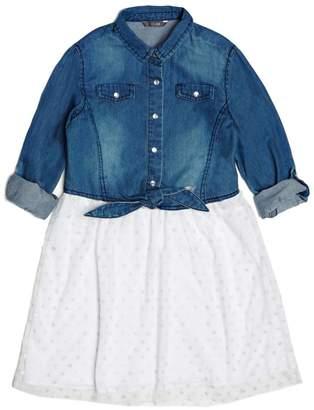 GUESS Chambray Two-Fer Dress (7-16)