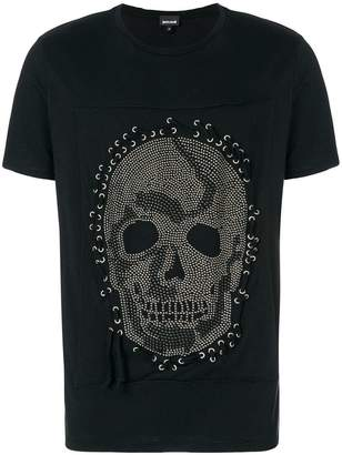 Just Cavalli studded skull T-shirt