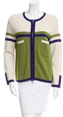 Philosophy di Alberta Ferretti Colorblock Knit Jacket