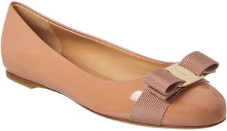 Salvatore Ferragamo Vara Bow Varina Leather Ballet Flat
