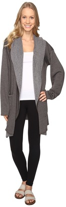 Hard Tail - Slouchy Wrap Hoodie Jacket Women's Sweatshirt $132 thestylecure.com