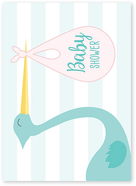 Stork Delivery Baby Shower Greeting Card - Set of Six