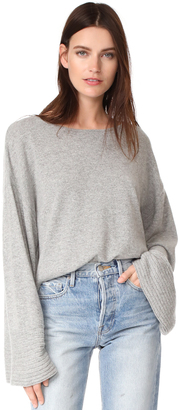 Elizabeth and James Everest Wide Boat Neck Sweater $295 thestylecure.com