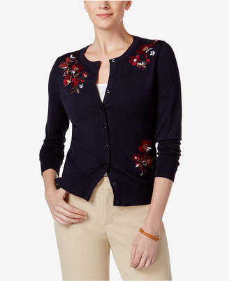 Charter Club Embroidered Cardigan, Only at Macy's $39.98 thestylecure.com