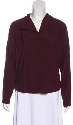 Zero Maria Cornejo Silk Long Sleeve Blouse
