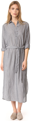 Vince Double Stripe Shirtdress $345 thestylecure.com