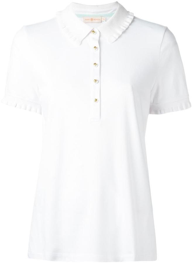 Tory BurchTory Burch ruffled detailing polo shirt