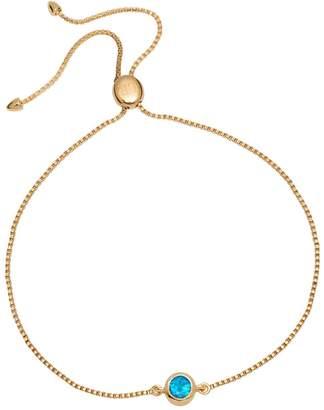 Lola Rose London - Curio Stud Slider Bracelet Neon Apatite