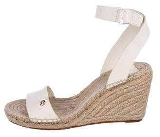 Tory Burch Ankle Wrap Espadrille Wedges