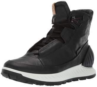 Ecco Men's EXOSTRIKE High Hiking Shoe, Black DYNEEMA Leather