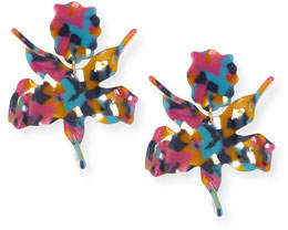 Lele Sadoughi Paper Lily Statement Clip-On Earrings