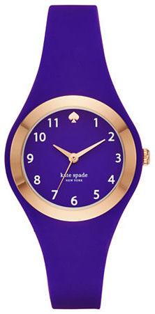 Kate SpadeKate Spade New York Fashion Rumsey Rose Goldtone Analog Silicone Strap Watch