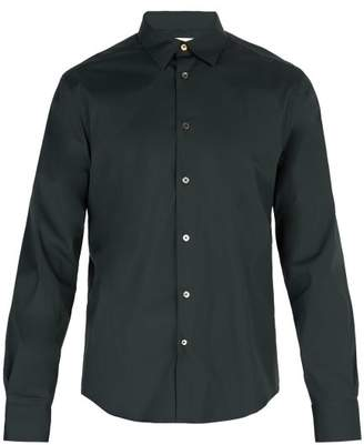 Paul Smith Single Cuff Stretch Cotton Shirt - Mens - Green