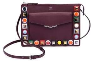 Fendi Multicolor Studded Leather Pouch