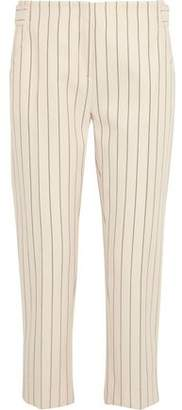 Victoria Beckham Victoria Striped Wool And Cotton-Blend Tapered Pants