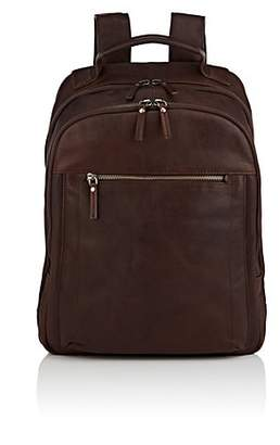 Barneys New York MEN'S LEATHER BACKPACK - BROWN
