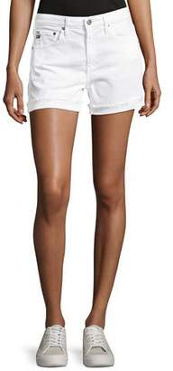 AG Jeans Hailey Mid-Rise Denim Jeans Shorts, White
