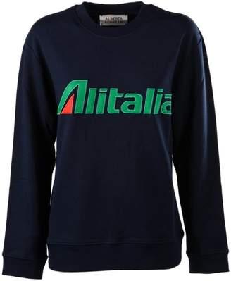 Alberta Ferretti Alitalia Knit Patched Sweatshirt