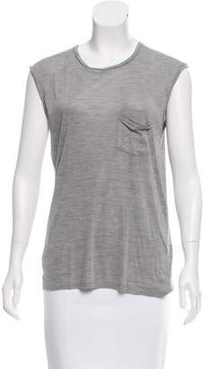 Saint Laurent Sleeveless Crew Neck Top