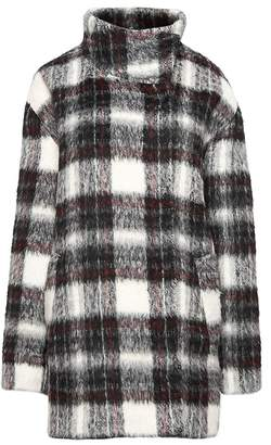 Banana Republic Fuzzy Plaid Cocoon Coat
