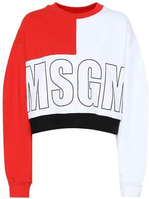 MSGM Logo printed cotton sweatshirt
