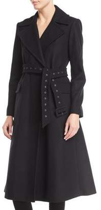 Theory Bria Perfect Belted Long Wool Coat