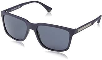 Emporio Armani Men's MOD. 4047 SUN 0EA4047 52116Q Rectangular Sunglasses