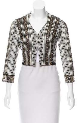 Mayle Embroidered Mesh Cardigan w/ Tags